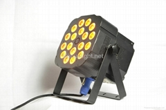 LED par light with RGBW 4in1 LEDs