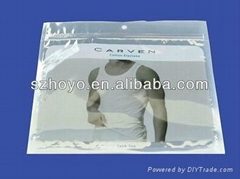 three side sealing bags with zipper