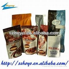 three side seal laminated aluminum foil food packing bag