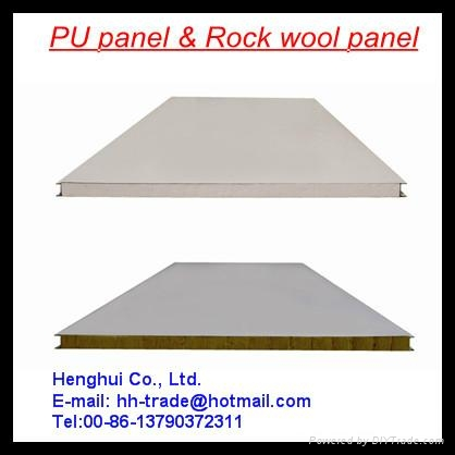 Rock wool roof sandwich panel 1