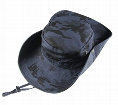 Wholesale outdoor camo fitted Wide Brim Visor Fishing Bucket Cap