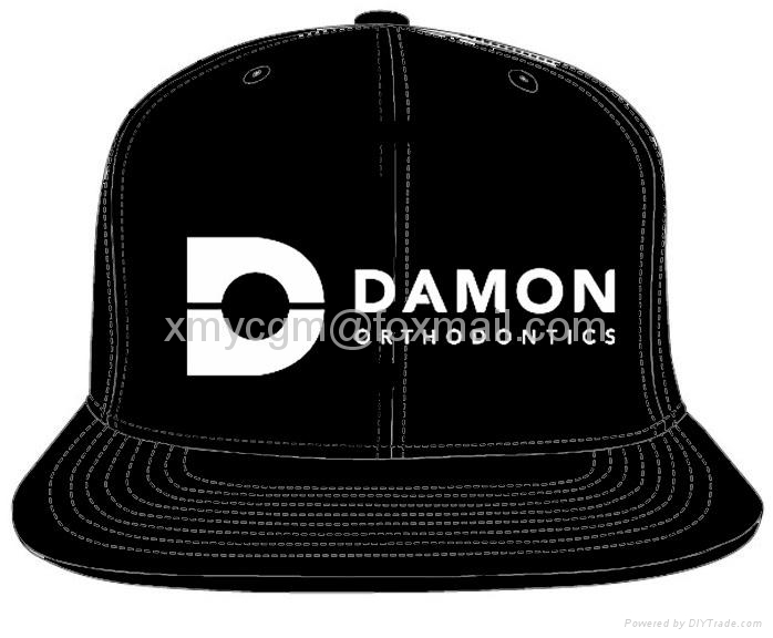 Unique Design 6-panel Snapback Hat with Custom 3D Embroidered Logo  1