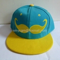 Unique Design 6-panel Snapback Hat with Custom 3D Embroidered Logo  5