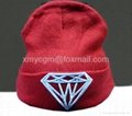 Hip-hop beanies hat, flat brim, made of acrylic, customized sizes are accepted,