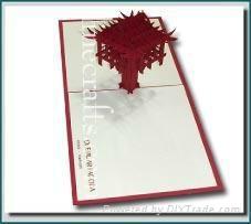 One Pillar Pagoda - 3D Pop up Greeting Card