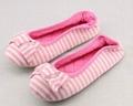 Kids striped heel elastic ballerina