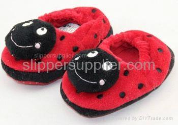Kids 3D easy velour enclosed back slippers 1