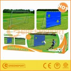 Portable shooting target metal frame football soccer goal