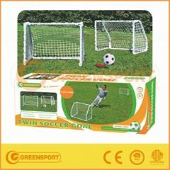 Twin mini football soccer goal