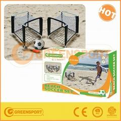 Metal twin min beach soccer goal