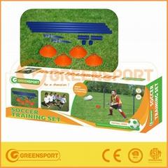 plastic soccer training set