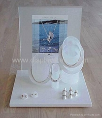 Counter Jewelry Display Set Acrylic Necklace Ring Window  Stand