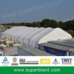 aluminum with side wall outdoor big curved expo tents