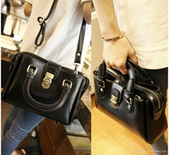 2014 women's handbag lock genuine leather shoulder bag