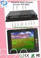 Industrial Panel PC computer  multi touch screen  fanless mini PC (PPC-084C) 3