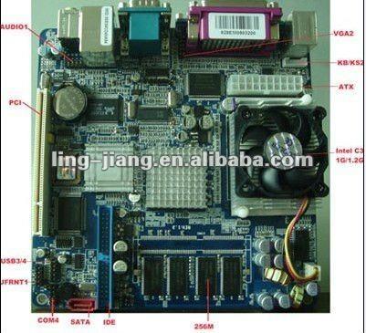 Fanless industrial motherboard PCM5-628EM 1