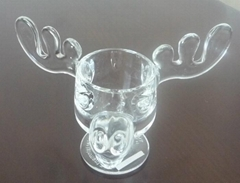 glass moose mug