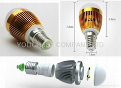3W led 球泡灯 稳定节能