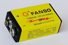 Fanso 9V Lithium Battery Cp9V, Ideal for Smoke Alarm