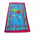 Pure Cotton Custom Cheap Beach Towels in