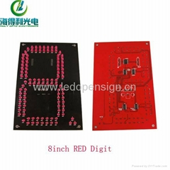 Outdoor 12 Inch 7 Segment LED Display 4 Digit