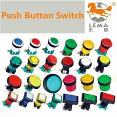 Momentary plastic push button switch