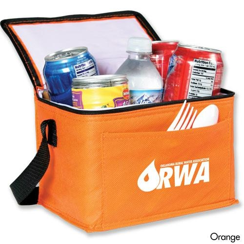 For 6 can beer storage non woven cooler bag 2
