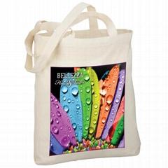 Coloful printing cotton tote bag