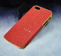 iphone4~5苹果高档包边珍珠纹纹贴皮手机保护套保护壳