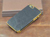 iphone4~5苹果高档包边皮纹贴皮手机保护套保护壳