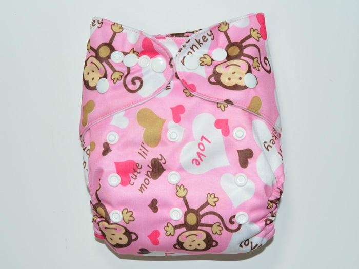 Various Colors and Cute Patterns Reusable Cloth Babies Diapers Nappies 4
