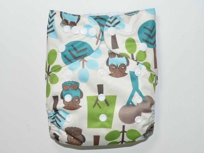 Various Colors and Cute Patterns Reusable Cloth Babies Diapers Nappies 5