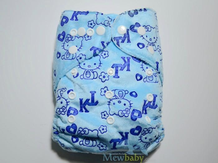 New Printing Breathable Minky Cloth Diapers With Inserts 3