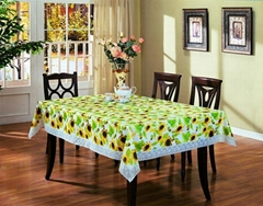 Water-proof and Wipe-clean Polyester Table Cloth
