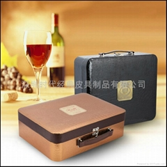 Funky leather box for wine