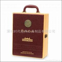 高檔皮質紅酒盒雙支通版