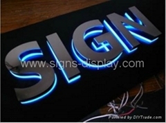 outdoor&indoor advertising signs stainless steel backlit alphabet letter