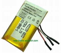 Li-polymer battery for MP3/MP4 Ipod Nano replacement battery 3.7V 330mAh