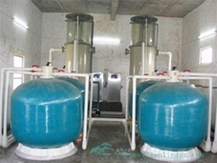 RAS Indoor Fish Farm Sand Filter for Intensive Aquaculture Systems