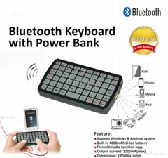 Mini Bluetooth QWERTY Keyboard with Powerbank