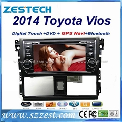 ZESTECH car dvd for toyota vios 2014 car dvd gps navigation with radio Bluetooth