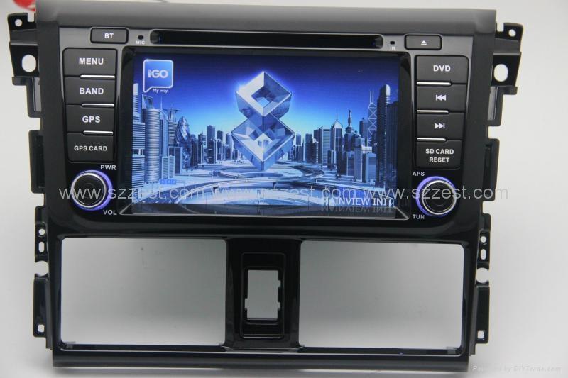 ZESTECH car dvd for toyota vios 2014 car dvd gps navigation with radio Bluetooth 4