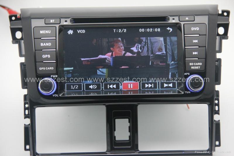 ZESTECH car dvd for toyota vios 2014 car dvd gps navigation with radio Bluetooth 5