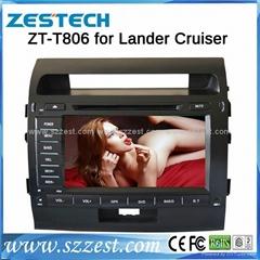ZESTECH car dvd for toyota Land cruiser dvd gps navigation radio Bluetooth ipod