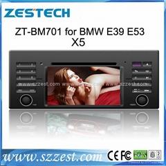 ZESTECH Hot car dvd for BMW E39 E53 dvd gps navigation radio Bluetooth ipod tv