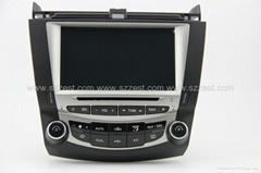 ZESTECH car dvd for Honda Accord 7 dvd gps navigation radio Bluetooth ipod tv