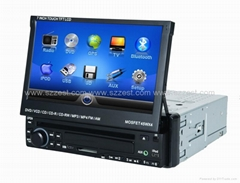 ZESTECH 1 din universal car dvd gps navigation with radio Bluetooth ipod tv RDS