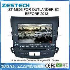 ZESTECH car dvd for Mitsubishi OUTLANDER dvd gps navigation radio Bluetooth