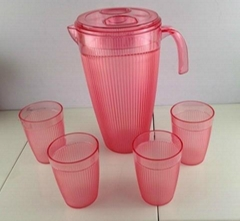 5pc pitcher with 4 tumbles set