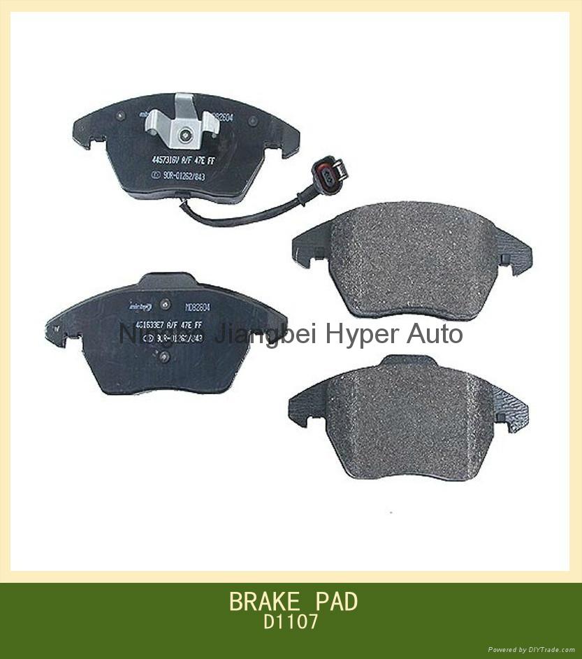 D1107  front disc brake pads price  for Volkswagen 1